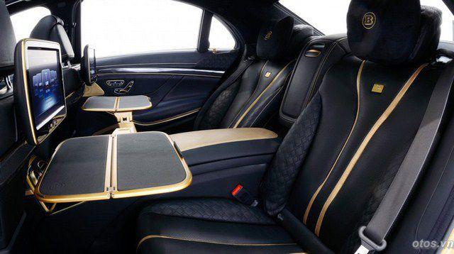 Xe Mercedes S65 AMG mạ vàng của hãng độ Brabus